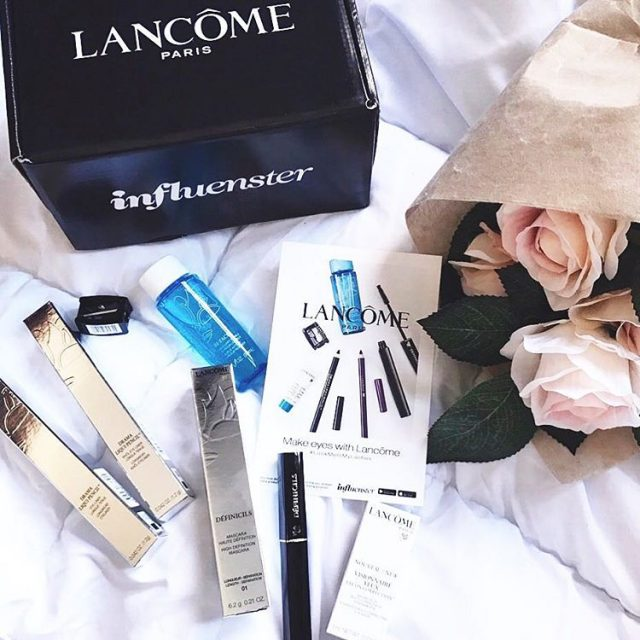 Goodies from lancomeofficial Cant wait try them Thanks Influenster LookMeInMyLasheshellip