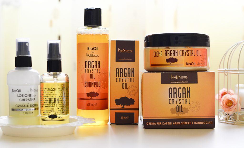 Bio Oil Argan Crystal Oil Îngrijire pentru păr deteriorat